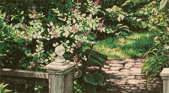 Garden 2, painting by Mary Baker