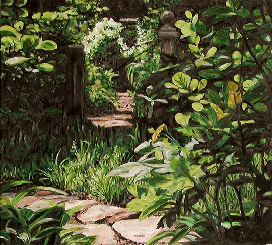 Garden 1, Painting by Mary Baker