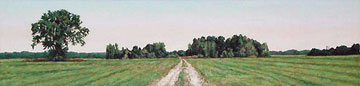 """The Pasture"" Oil on Paper, 5.5"" x 22"" 2007 © Mary Baker (Sold)"