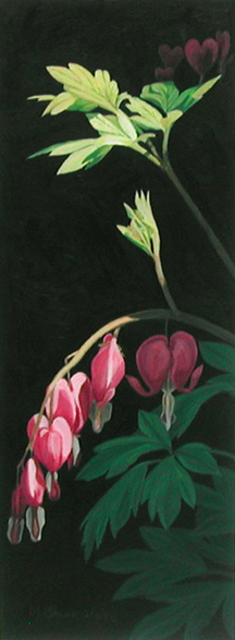 Bleeding Heart, painting by Mary Baker