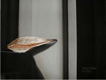 Pod by Window, painting by Mary Baker