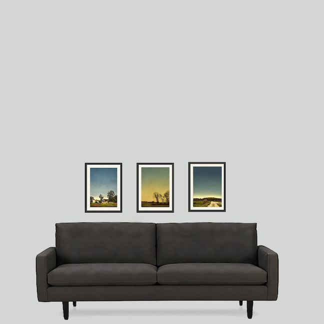 Digital images over a couch