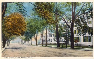 Newburyport, High Street, Early 20th Century Postcard
