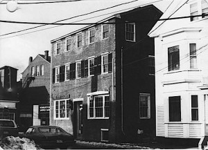 One Temple Street, courtesy of the City of Newburyport, with the clapboard building next door.