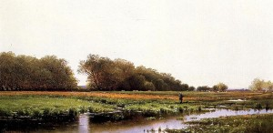 """Hunter in the Meadows of Old Newburyport, Massachusetts"" by Alfred Thompson Bircher"