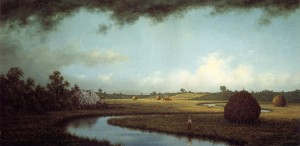 Martin Johnson Heade Sudden Showers, Newbury Marshes, c 1865-1875