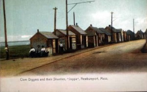 "Newburyport Postcard, Calm Diggers and their Shanties ""Joppa"""