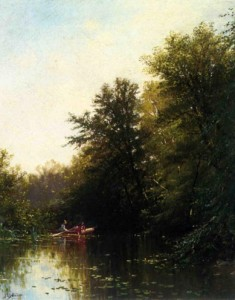 On the Mill Stream at Newburyport Massachusetts, Alfred Thompson Bricher, press to enlarge.