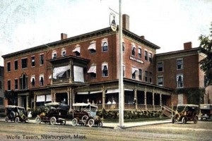 Postcard of the Wolfe Tavern, Newburyport, MA.  Press to enlarge.