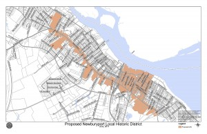 Map of Newburyport's proposed Local Historic District (LHD), Press to enlarge