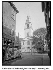 Unitarian Church, Pleasant Street, 1929, courtesy of the Boston Public Library, Print Department (press image to enlarge)