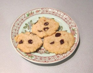 Almond meal-flour chocolate chip cookies with larger chocolate chips