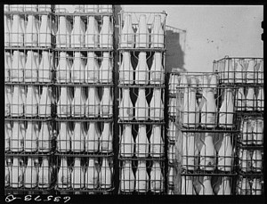 Milk Bottles, Courtesy of the Library of Congress