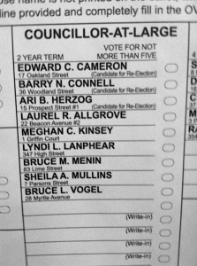 Newburyport At-Large Ballot
