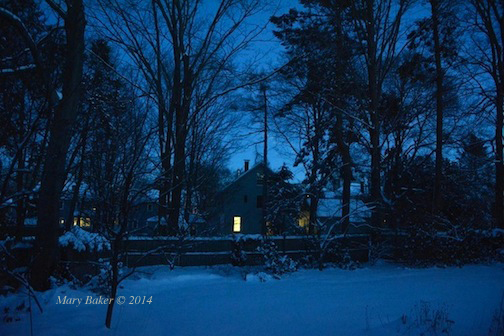 New England, Newburyport Winter Night, Mary Baker © 2014