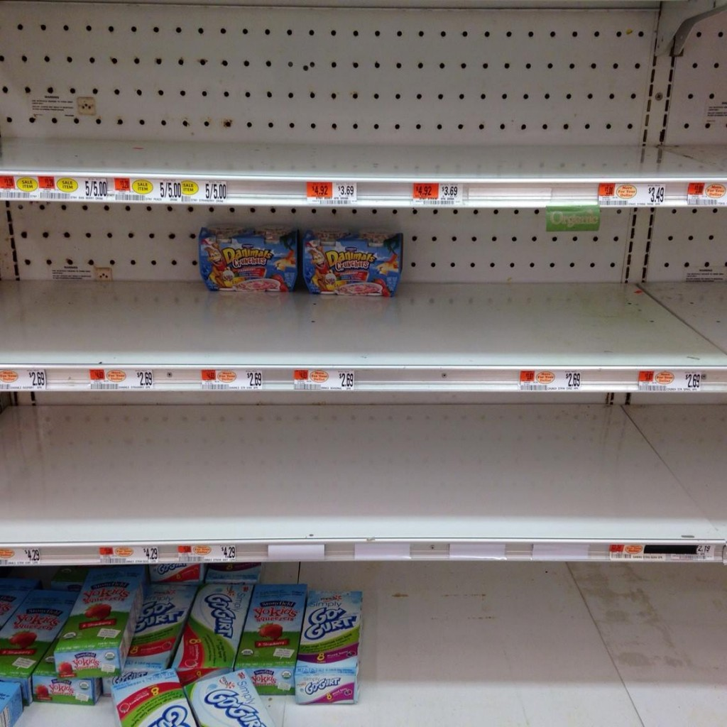 Newburyport's Market Basket-empty shelves