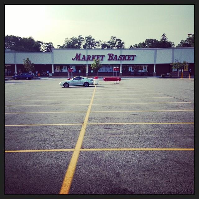 Empty Parking lot at Market Basket, Newburyport