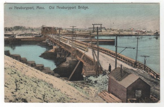 Old Newburyport Bridge, Postcard