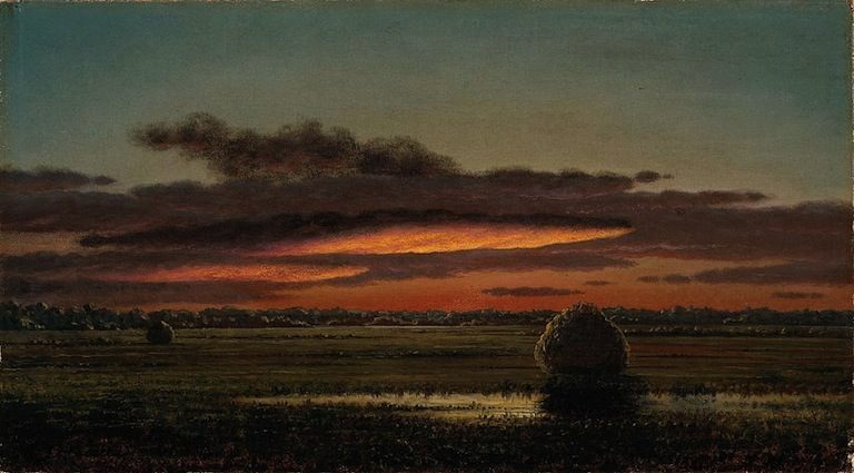 Martin Johnson Heade Sunset Over the Marshes, 1890-1904