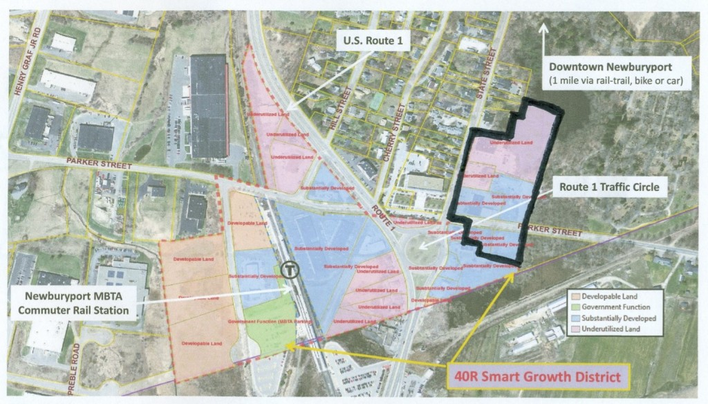 Area in the Proposed Amendment to the 40R Smart Growth District