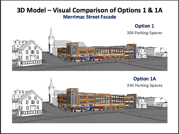 204 & 244 Newburyport Parking Garage Comparison
