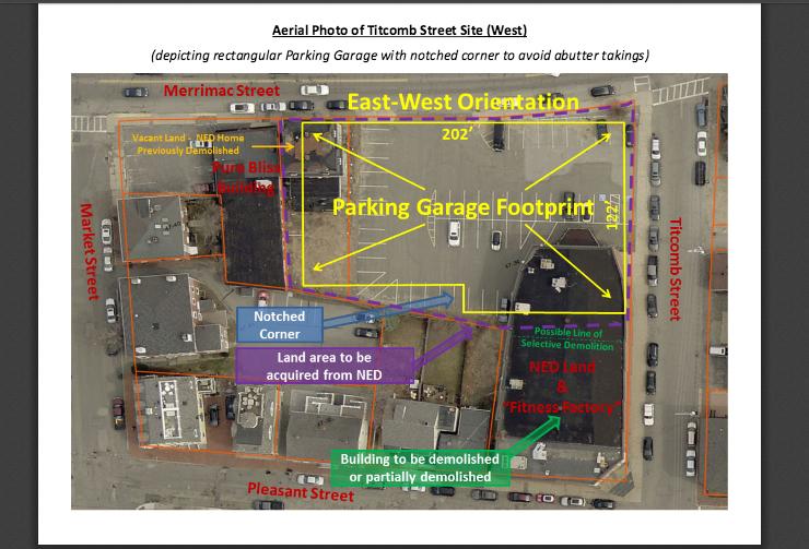 Proposed Newburyport Parking Garage footprint