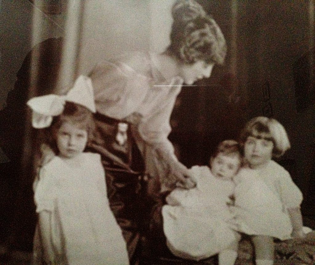 My grandmother with her three daughters