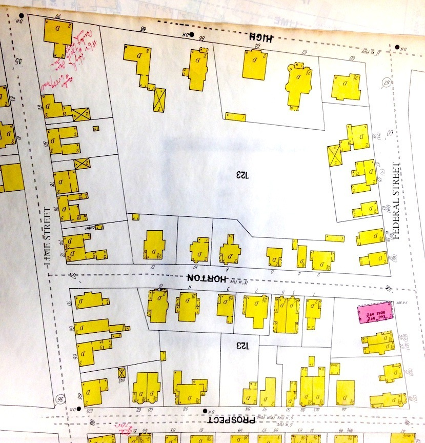 1900 Map showing Horon Street and all the new development