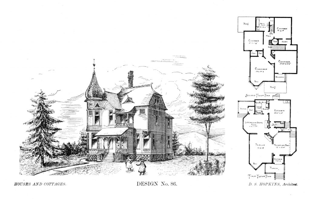Plans by architect D. S. Hopkins