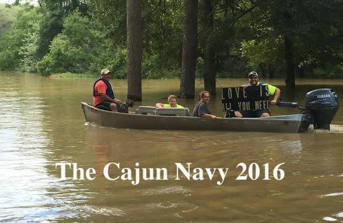 "The Cajun Navy 2016 - ""Love is all you need"" (original photo via the Cajun Navy)"