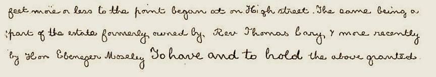 An excerpt from the 1871 deed