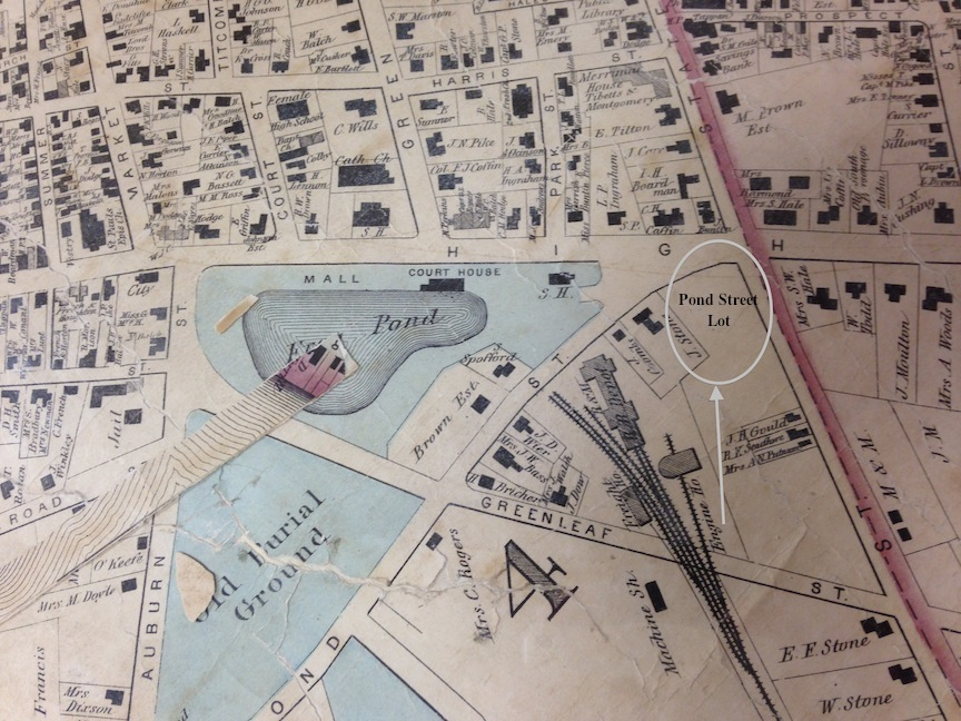 The Mall 1872 map