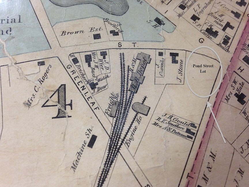Detail of the 1872 map