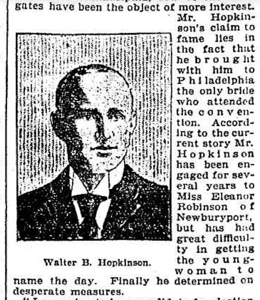 Walter B. Hopkinson, from the 1900 Chicago Tribune