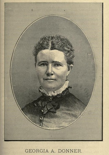 "A portrait of Georgia A. Donner, one of the surviving children from ""History of the Donner Party: a Tragedy of the Sierra"" by Charles Fayette McGlashan, 1880"