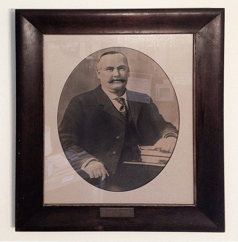 The portrait of Clarence Fogg, hanging in Newburyport City Hall