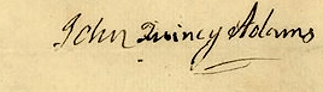 Signature of John Quincy Adams
