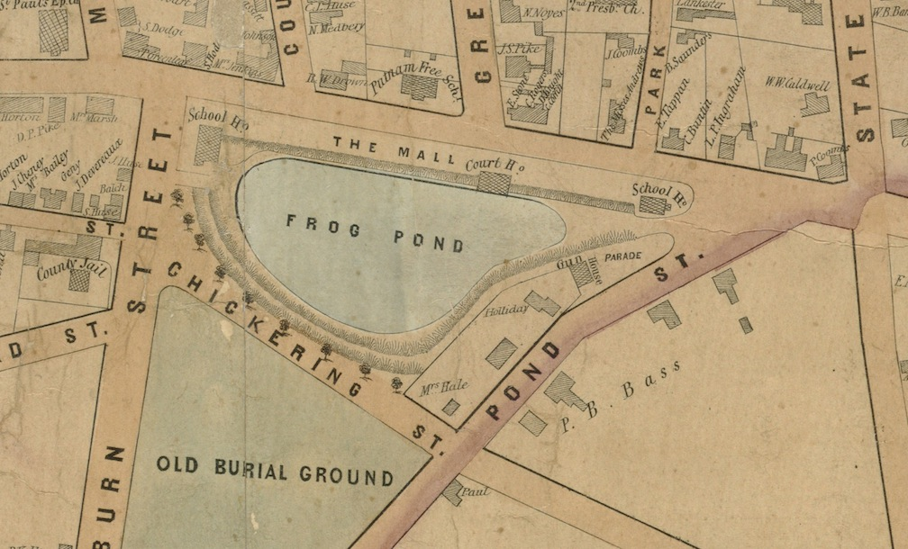 1851 Map, Frog Pond, Newburyport, MA