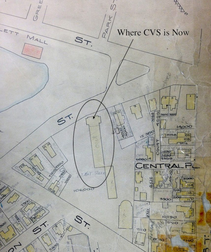 1924 Map of Pond Street
