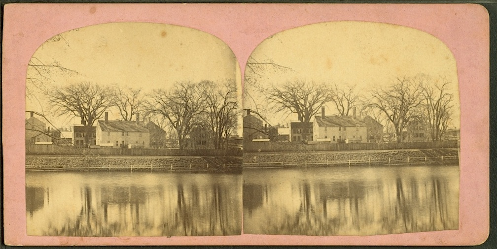 Pond Street houses, courtesy of the New York Public Library