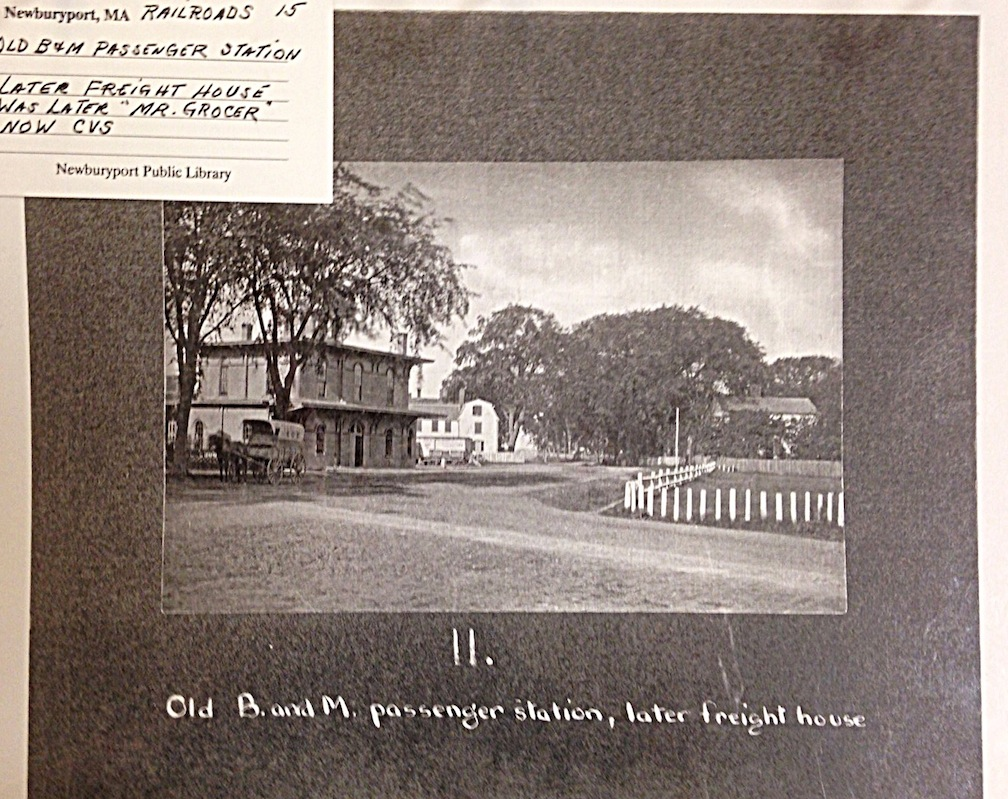 Passenger station courtesy of the Newburyport Archival Center.