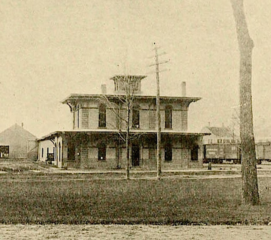 The Newburyport train station in 1921