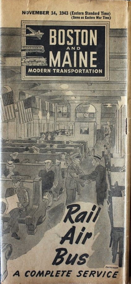 The Boston and Maine Timetable 1943