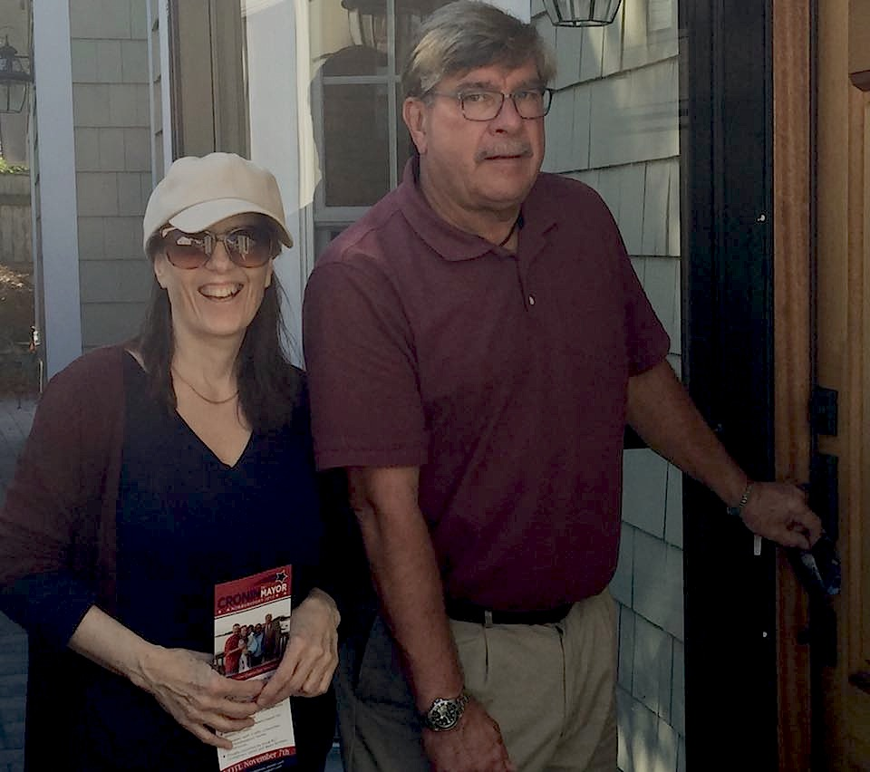 Canvassing with mayoral candidate Bob Cronin