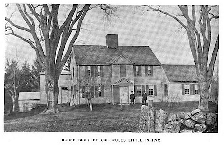 The house build by Colonel Moses Little in 1748, 100 Turkey Hill Road