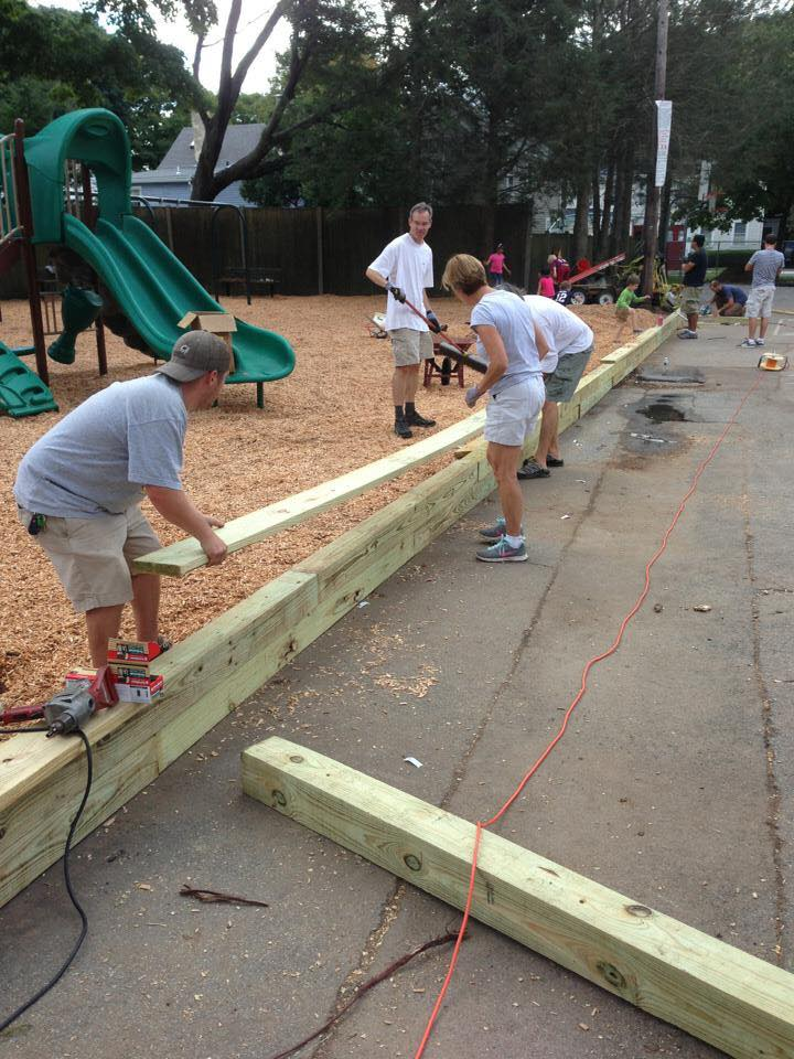 The Community Working on the Brown School Park, September 2013